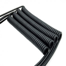 Flexible durable control cables with PUR jacket