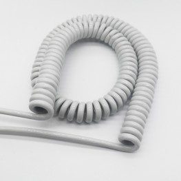PUR electronic spiral cable