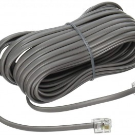 Telephone line wire extension cable with RJ11 connector